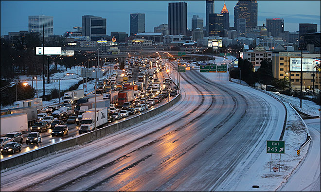 One day after storm, Atlanta highways still in gridlock