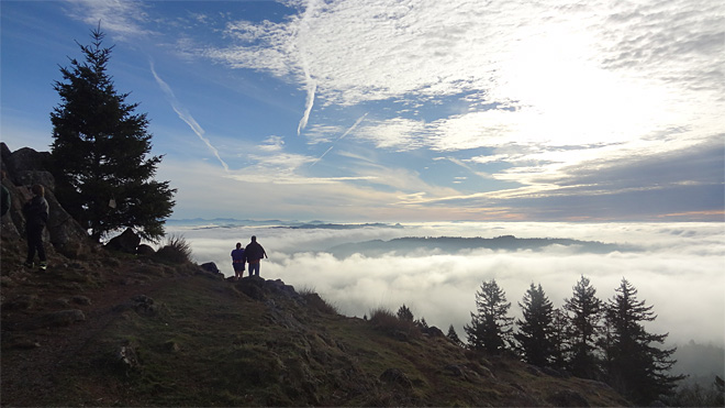 Atop Spencer Butte on January 1 of 2014 (2)