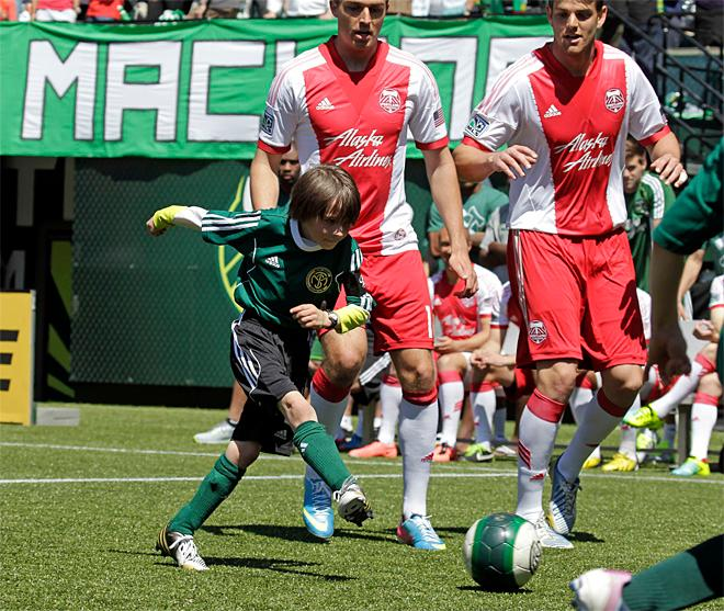 Boy, 8, gets wish to play against Timbers