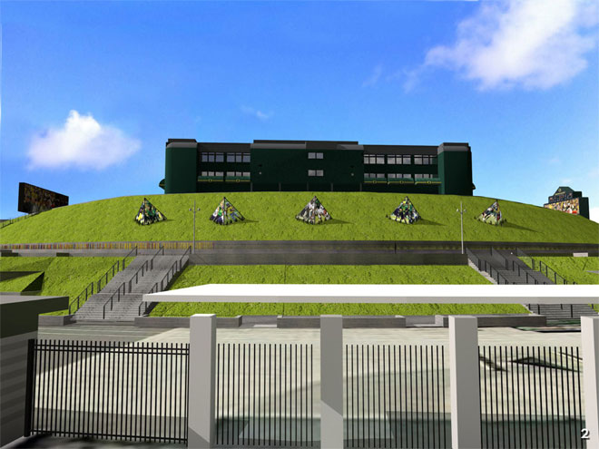 Autzen North Berm Details