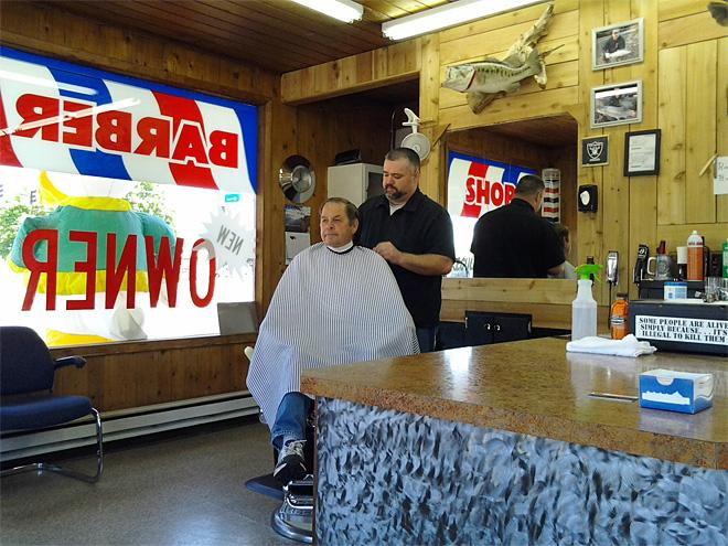 Barber rebuilds beat up shop