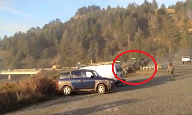 Man cited after crashing battle tank twice near Gold Beach
