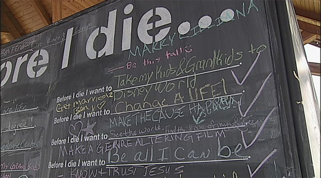 Before I Die wall in Salem