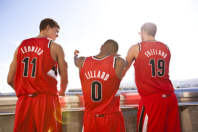 Blazers red uniforms (1)