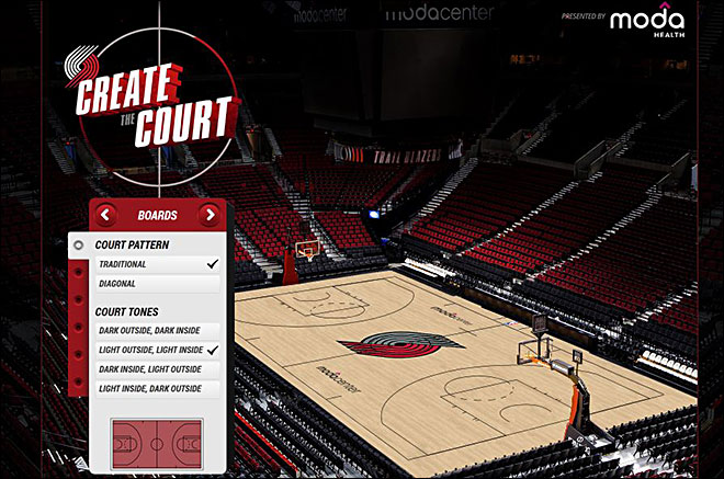 Trail Blazers fans invited to design new Moda Center court