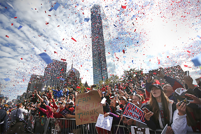 Red Sox Parade Baseball
