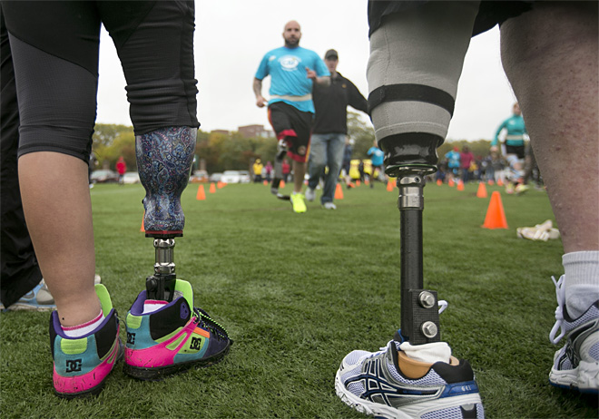 Boston bombing victims learning to run again