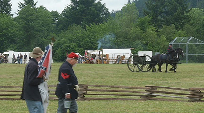 Civil War reenactors give Lebanon a blast from the past