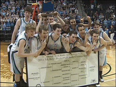 Raw Video: Corvallis Boys Win 5A State Championship in Double OT 