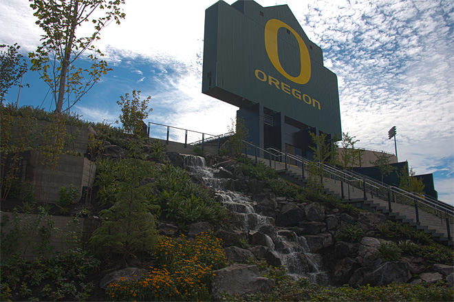 Calm before the storm at Autzen Stadium - Photo by Tristan Fortsch