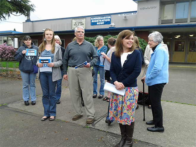 Campaign rally April 1 for school bond