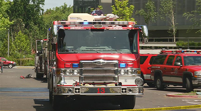 Smoke from fire in dorm basement triggers evacuation