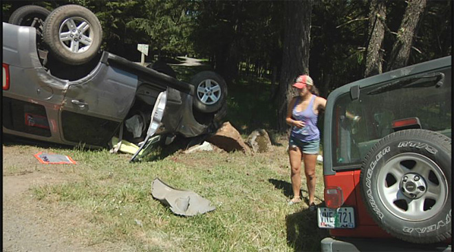 Car and Jeep collide on Fox Hollow on May 6 2013 (2)