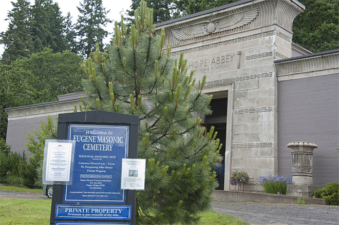 Eugene landmarks: 'The people who they are named after are buried here'
