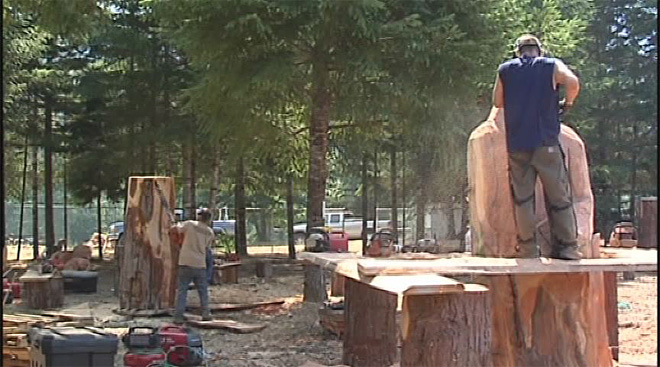 Chainsaw Art Festival this weekend on McKenzie River