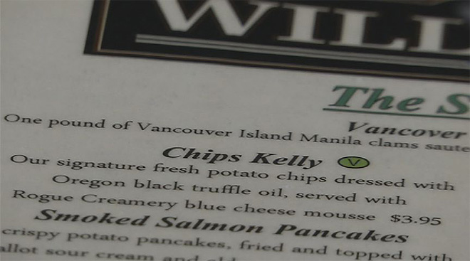 Chips Kelly to stay on menu