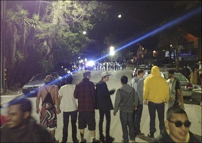 100 arrested, 44 hospitalized in SoCal college street brawl