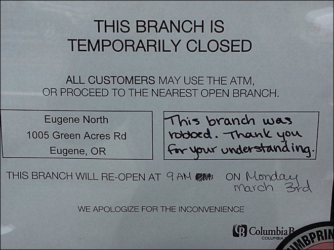 Columbia Bank on Seneca in Eugene 1