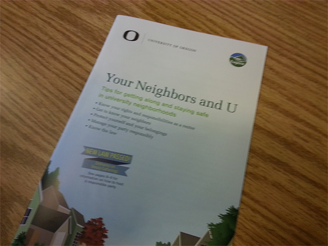 Community leaders go door to door near UO (1)