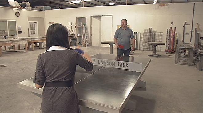 Concrete ping-pong tables: Made in Roseburg, installed worldwide