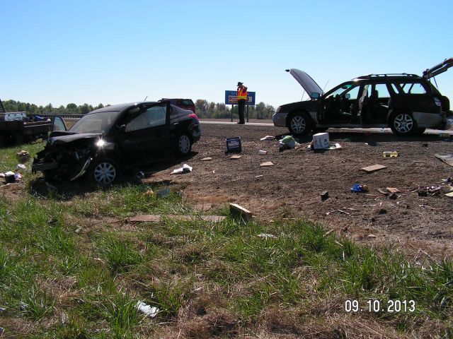 Crash near Harrisburg on I-5 September 10 2013