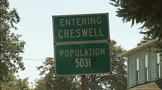 Creswell sign