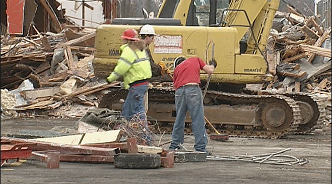Crews demolishing old Red Lion hope to find homes for old furniture