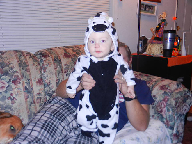 Cynthia Turner photo of son's first Halloween