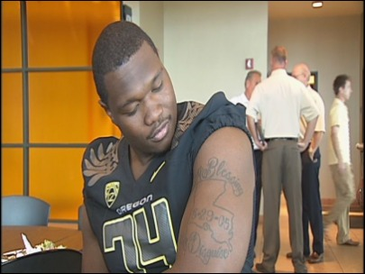 A blessing in disguise for Duck lineman Darrion Weems