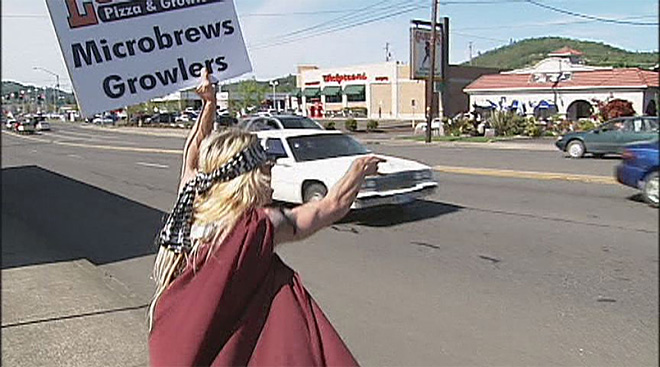 Dance-vertiser expands sign waving business