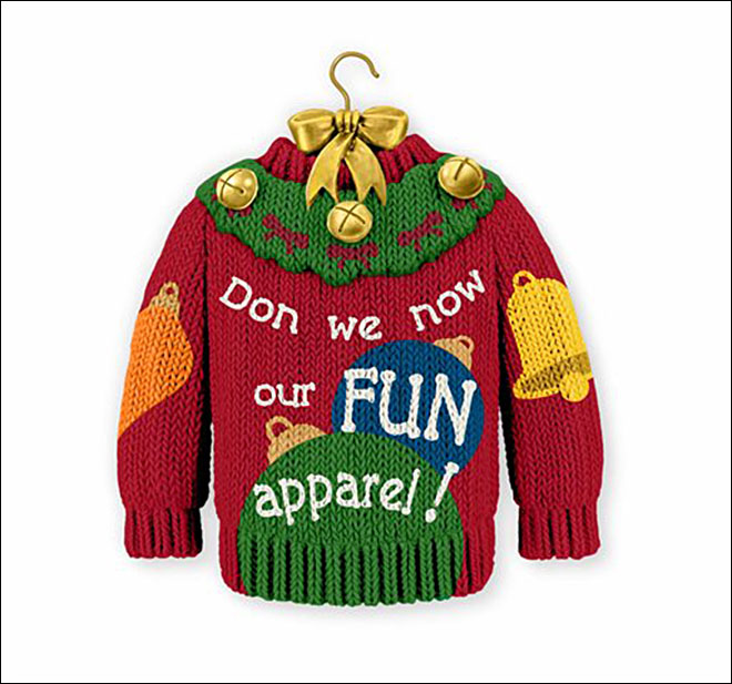 Hallmark's ugly sweater ornament stirs controversy