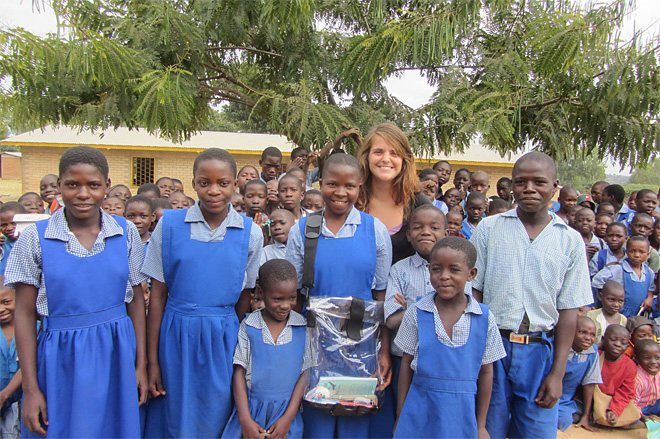 Developing waterproof backpacks for the rain-soaked students of Malawi