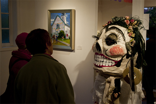 Dia De Los Muertos exhibit opening at Maude Kerns Art Center - Photo by Tristan Fortsch