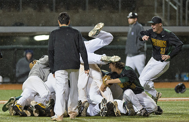 Duck Club Baseball clinches conference championship with win over W. Washington