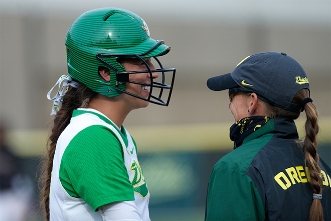 Ducks Softball sweeps Washington Huskies - 30 - Oregon News Lab Photo