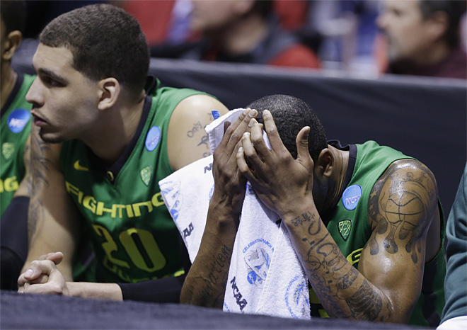 Oregon loses to Louisville 77-69: 'It wasn't there in the first half'