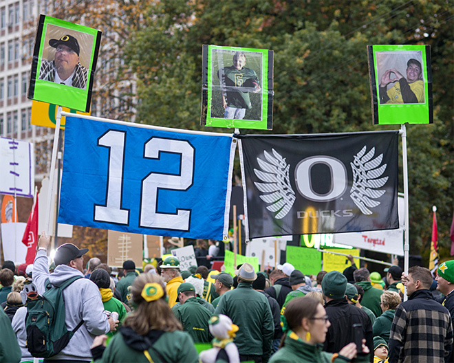 ESPN College GameDay visits the UO campus - Oregon News Lab 09