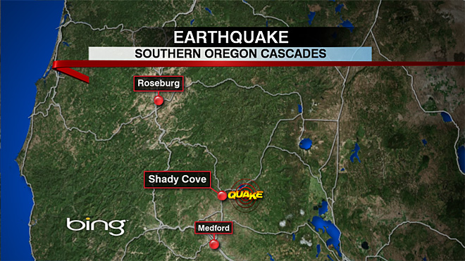 Small quake shakes southern Cascades