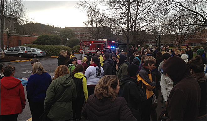 """Emergency incident"" evacuates University of Oregon Health Center"