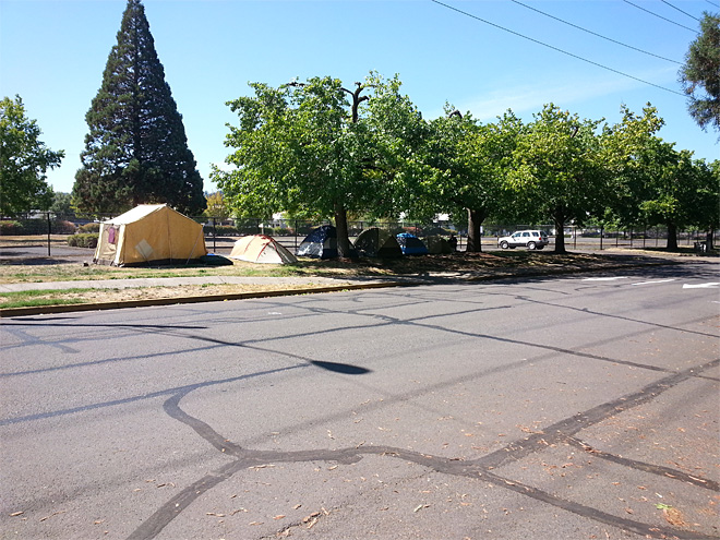 Eugene SLEEPS protest camp at Lane County Fairgrounds (1)