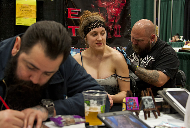 Evergreen Tattoo Invitational and Expo at Willamalane Center - photo by Tristan Fortsch