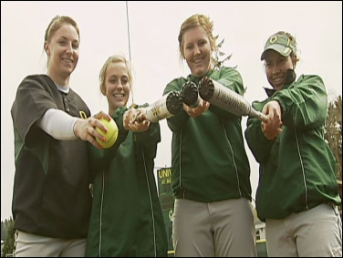 Duck Softball: 'Fab Four' freshmen keep playing all the right hits