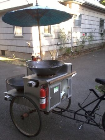 Food cart bike stolen