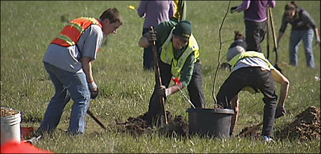 Planting over 200 trees on ODOT land: 'They thrive in different habitats'