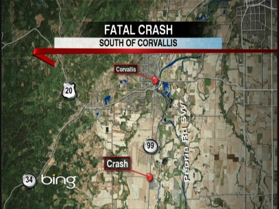 Crash kills man, 21, near Corvallis