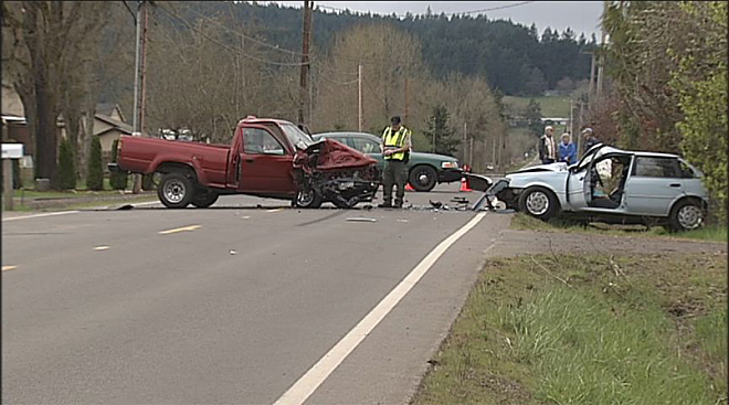 Fatal crash on Camas Swale Road on Friday March 22 2013