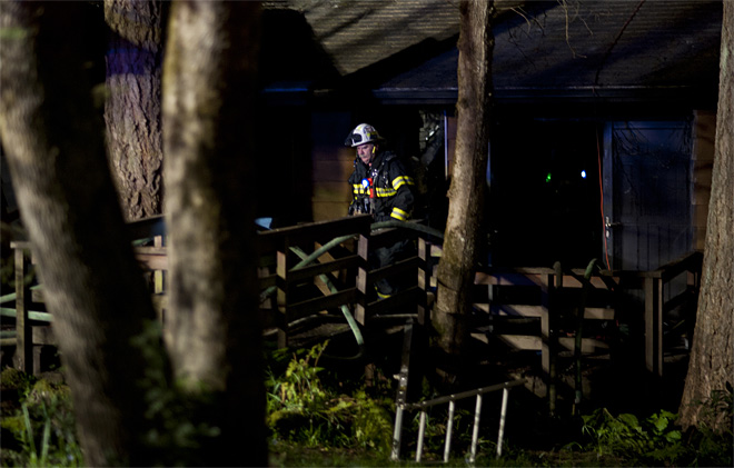Fire crews find deceased man inside burning South Eugene home - 02 - Photo by Tristan Fortsch