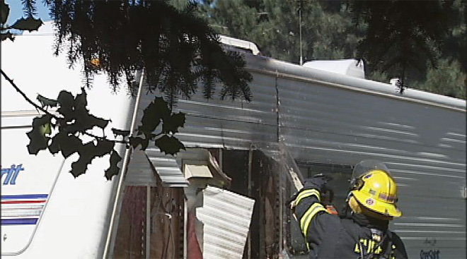 Fire damages trailer in North Eugene (4)