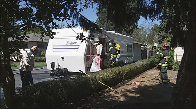 Fire damages trailer in North Eugene (5)