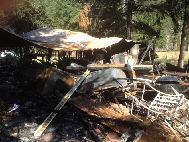 Fire destroys couple's Deadwood home
